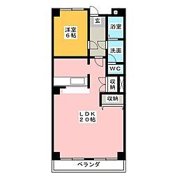 エクセル浅井[3階]の間取り