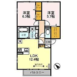 仮称 D-room朝霞市膝折町2丁目[2階]の間取り