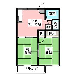 メゾン庭瀬 D棟[2階]の間取り