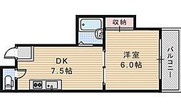 西田辺一進ビル[3階]の間取り