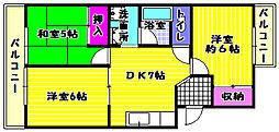 サンマックマンション[2階]の間取り