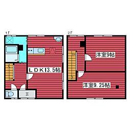 [テラスハウス] 北海道札幌市豊平区月寒中央通6丁目 の賃貸【/】の間取り