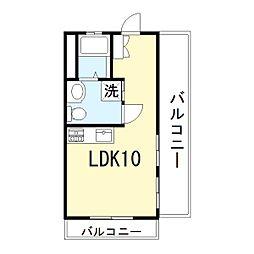 兵庫県姫路市梅ケ谷町の賃貸マンションの間取り