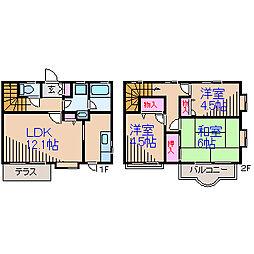 [テラスハウス] 神奈川県横浜市都筑区桜並木 の賃貸【/】の間取り