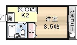 アークハイム四ノ宮[206号室号室]の間取り