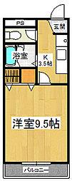 コーポ二番館[1階]の間取り