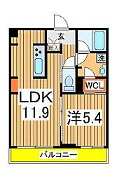 仮)柏の葉キャンパスシャーメゾン 3階1LDKの間取り