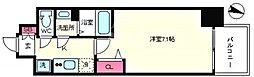 プレサンス京町堀 7階1Kの間取り