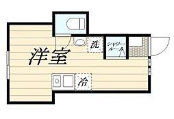 高松2丁目計画 1階ワンルームの間取り