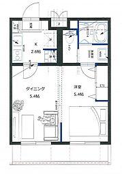 リライア百合ヶ丘[2階]の間取り