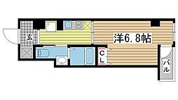 クレアール神戸[602号室]の間取り