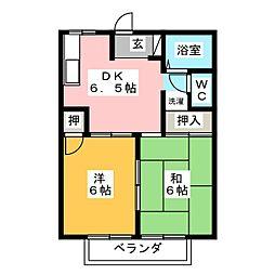 ムツワハイツ[2階]の間取り