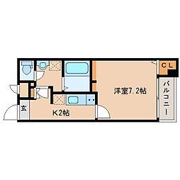 奈良県奈良市杉ケ町の賃貸マンションの間取り