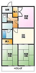 マンション豊泉[5C号室]の間取り