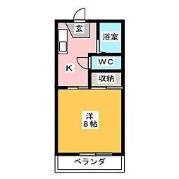サニーハイツ文京[1階]の間取り