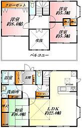 [一戸建] 埼玉県熊谷市上之 の賃貸【/】の間取り
