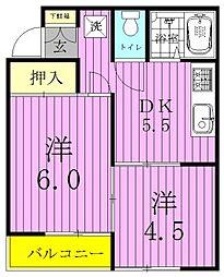 コーポ渋谷[103号室]の間取り