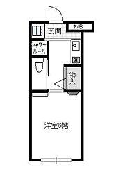 神奈川県横浜市都筑区中川5丁目の賃貸アパートの間取り