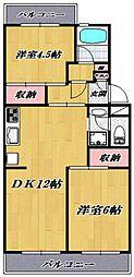 ファミリアマンション宮崎台[105号室号室]の間取り
