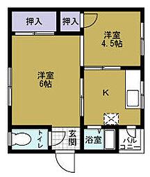 ドリームアパートメント磯路[3階]の間取り