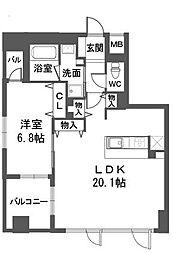 マジェスティ大濠[2階]の間取り