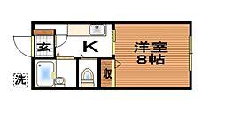 池田コーポB棟[105号室]の間取り
