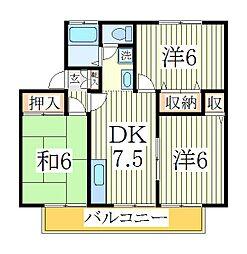 ジョイフローリッシュ[1階]の間取り