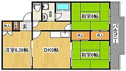 R GARDEN NOZAKI[3階]の間取り