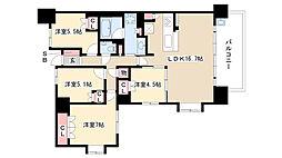 愛知県名古屋市瑞穂区陽明町2丁目の賃貸マンションの間取り
