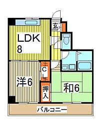 第五メゾン小泉芝新町[5階]の間取り