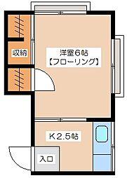 橘荘[2階]の間取り