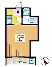 西府マンション[3階]の間取り