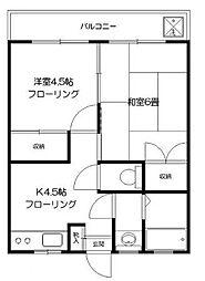千葉県松戸市南花島3丁目の賃貸マンションの間取り