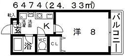 セイント[102号室号室]の間取り