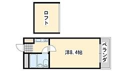 シャルマンフジ羽倉崎[2階]の間取り