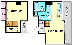 シャトーアスティナ京橋ラルゴ 7階1LDKの間取り