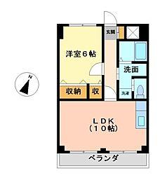 愛知県名古屋市港区港栄3丁目の賃貸マンションの間取り
