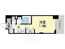 ラグゼ新大阪5 14階1Kの間取り
