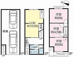 [一戸建] 大阪府大阪市鶴見区横堤5丁目 の賃貸【/】の間取り