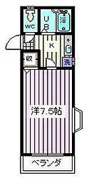 埼玉県さいたま市桜区西堀5丁目の賃貸アパートの間取り