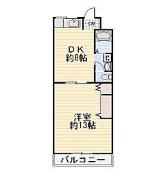 第二永和レジデンス[2階]の間取り