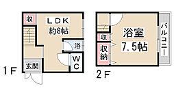 [一戸建] 兵庫県川西市美園町 の賃貸【兵庫県/川西市】の間取り