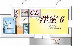兵庫県神戸市須磨区車竹ノ下の賃貸アパートの間取り