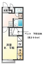 兵庫県赤穂市元町の賃貸アパートの間取り