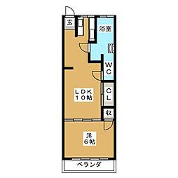 コーポ大島[2階]の間取り