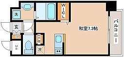 JR山陽本線 新長田駅 徒歩2分の賃貸マンション 4階ワンルームの間取り