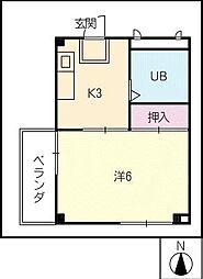 ハートイン平田[3階]の間取り
