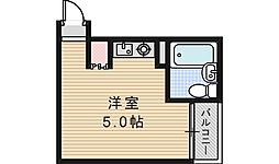 シャトル阪南[107号室]の間取り