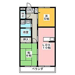 カーサドルチェ[2階]の間取り