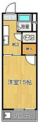 ドリームハウスII[4階]の間取り